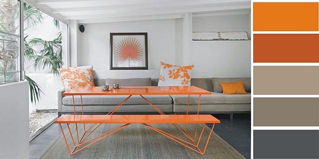 Decocasa en colombia naranja y gris una dupla fascinante for Decoracion naranja