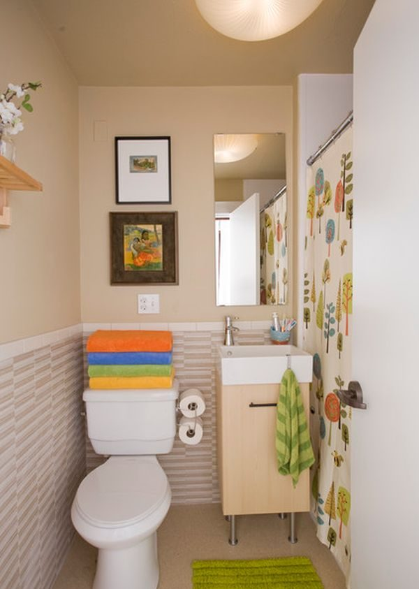 Baño Vintage Pequeno:Small Narrow Bathroom Decorating Ideas