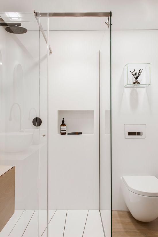 Baño Pequeno Alargado:Baños pequeños a puro minimalismo