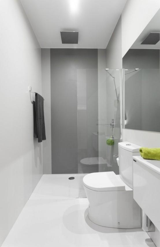 Baño Pequeno Alargado:Decocasa en Colombia » Baños pequeños a puro minimalismo